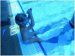 לימוד שחייה לגילאי שנתיים