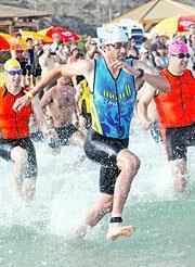 שחייה, ריצה, אופניים - טריאתלון