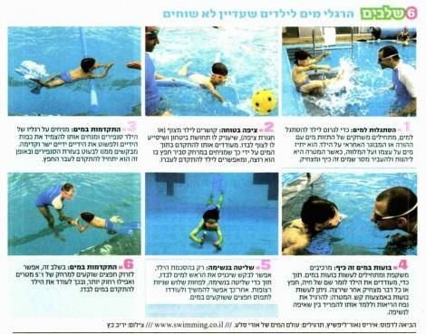 ידיעות - על שחייה לילדים