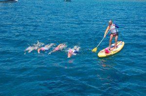 שחייה במים פתוחים - פלוטילת שחיינים
