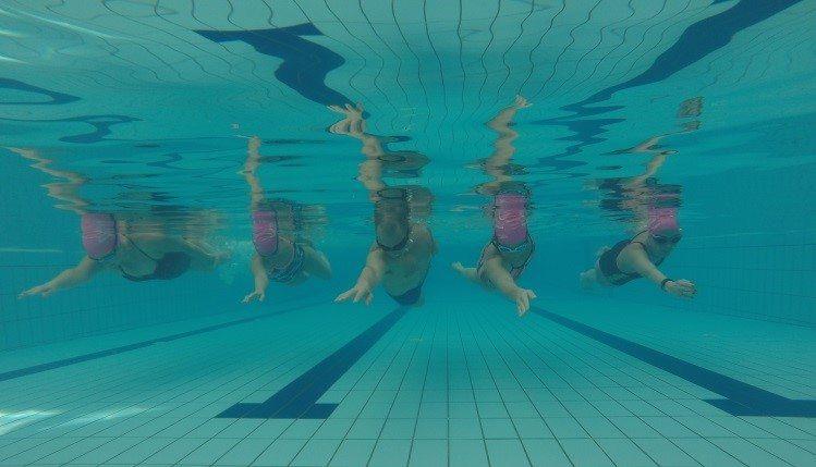 קבוצת אימוני שחייה בשיטת WEST