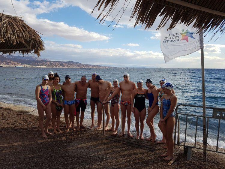 אימון נבחרת ישראל בשחייה במים פתוחים