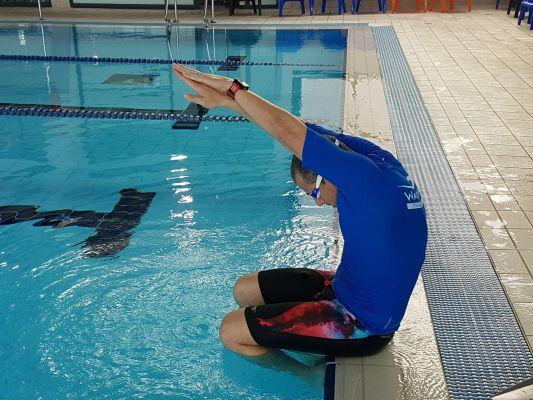 תרגיל 1 ללימוד קפיצת ראש בשחייה