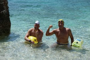 גיא כהן ואייל שכנר במחנה אימון מים פתוחים ביוון