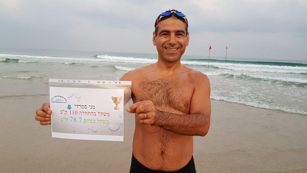 ירידה במשקל באמצעות שחייה ואורח חיים בריא